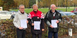 Kreis-Cross Kreismeister 2019 (v. l.): Jansen, Gerner, Vogt