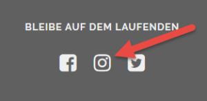 Instagram im Seitenfuß